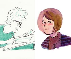 Self portraits by Mimi Pond and Sarah Glidden