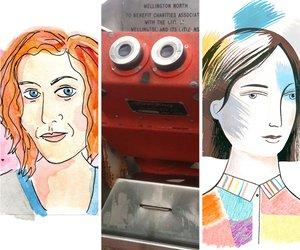 Three Sarahs W&R18 (c) Self portraits by Sarah Laing, Sarah Maxey, Sarah Wilkins
